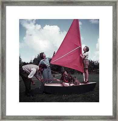 Grass Boat Framed Print by A. E. French/Archive Photos