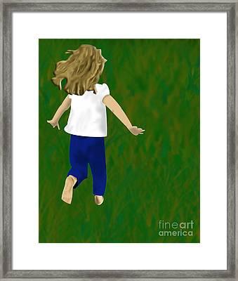 Grass Under My Feet Framed Print by Melissa Stinson-Borg