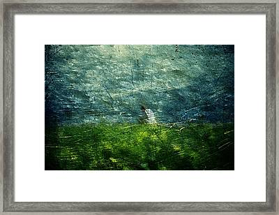 Framed Print featuring the digital art Grassy by Andrea Barbieri
