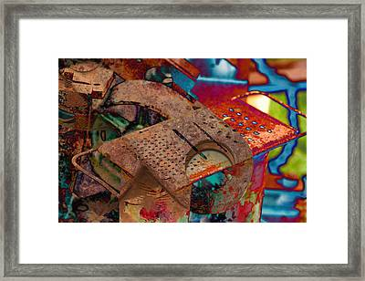 Grated Framed Print
