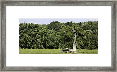 Grave Of Lafayette Meeks Appomattox Virginia Framed Print by Teresa Mucha