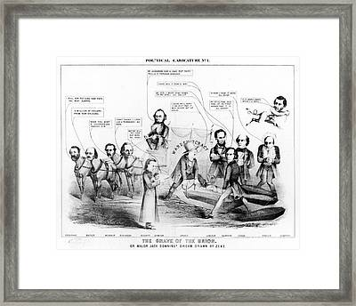 Grave Of The Union, 1864 Framed Print