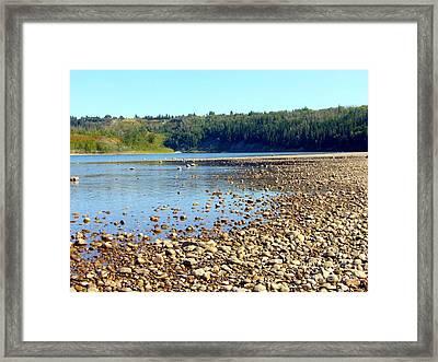 Framed Print featuring the photograph Gravel Bar On The North Saskatchewan River by Jim Sauchyn