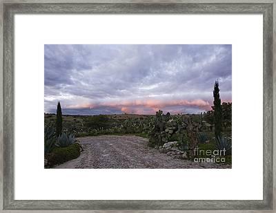 Gravel Road In Rural Area Framed Print