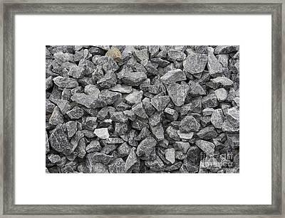 Gravel - Road Metal Framed Print by Michal Boubin