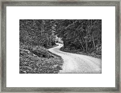 Gravel Road Framed Print