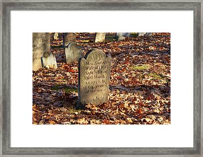 Gravestone 4 Framed Print