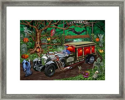 Graveyard Ghost Tours Framed Print by Glenn Holbrook