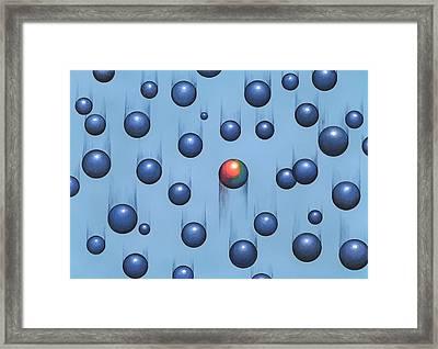 Gravity, Conceptual Artwork Framed Print by Richard Bizley