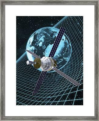 Gravity Probe B Satellite, Artwork Framed Print by Carl Goodman