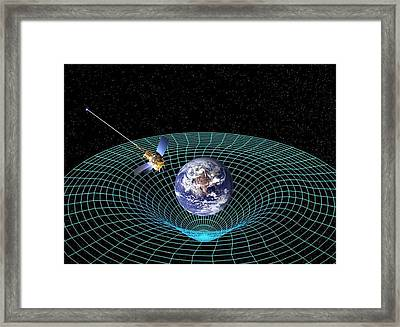 Gravity Probe B Satellite, Artwork Framed Print by Nasa