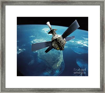 Gravity Probe B Satellite Framed Print by NASA / Science Source
