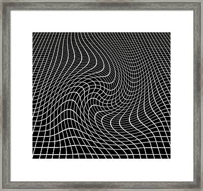Gravity Waves In Space-time, Artwork Framed Print by Victor De Schwanberg