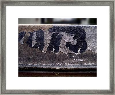 Gray Curb Framed Print by Ludmil Dimitrov