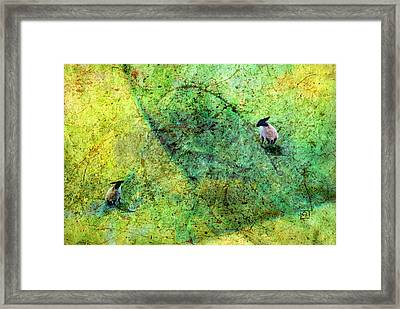 Framed Print featuring the digital art Grazing The Pollock Field by Jean Moore