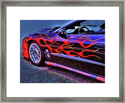 Greased Lightning Framed Print
