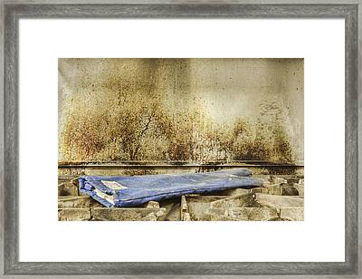 Greasy Gas Stove Top With Protective Framed Print by Douglas Orton