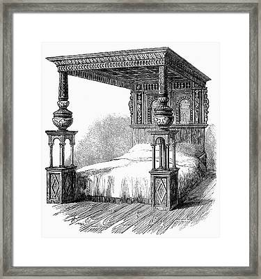 Great Bed Of Ware, C1590 Framed Print by Granger