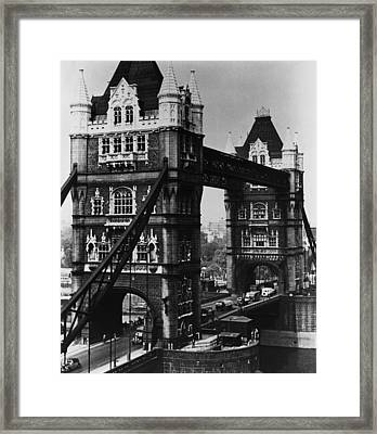 Great Britain. Tower Bridge, London Framed Print by Everett
