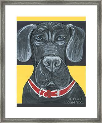 Great Dane Poster Framed Print by Ania M Milo