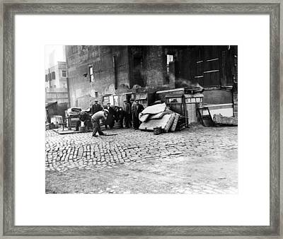 Great Depression, Riverfront Shantytown Framed Print by Everett