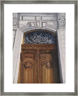Great Door Framed Print by Emmanuel Turner