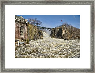 Great Falls Of Paterson    Framed Print