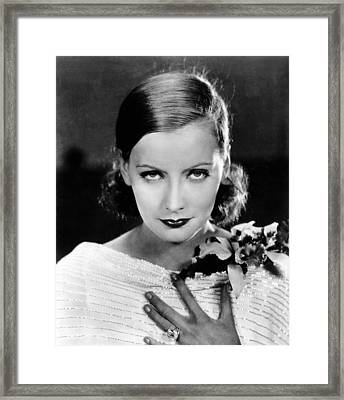 Great Garbo, Mgm Portrait, Ca. 1928 Framed Print by Everett