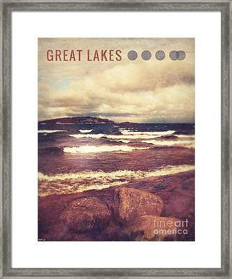 Framed Print featuring the photograph Great Lakes by Phil Perkins
