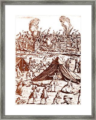 Great Lisbon Earthquake, 1755 Framed Print by Science Source