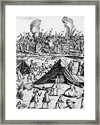 Great Lisbon Earthquake Of 1755 Framed Print by Science Source