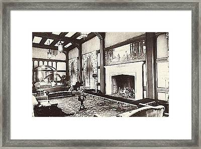 Great Lounge In The Eureka Inn California 1920 Framed Print by Dwight Goss
