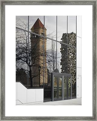 Great Northern Clocktower Reflection - Spokane Washington Framed Print by Daniel Hagerman