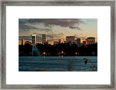 Great Pond Fountain Framed Print