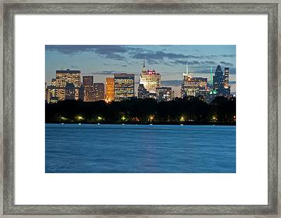 Great Pond Skyline Framed Print