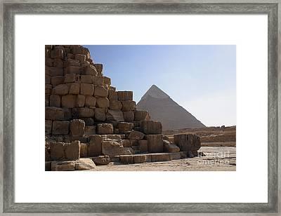 Great Pyramids Khafre Framed Print by Darcy Michaelchuk