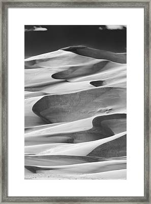 Great Sand Dunes Black And White Framed Print