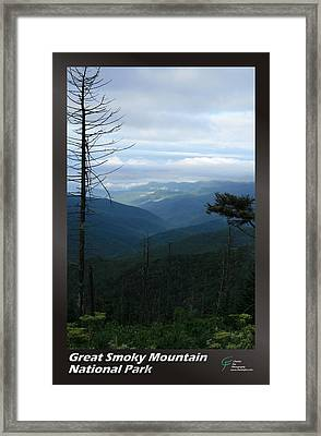 Great Smoky Mountains Np 009 Framed Print by Charles Fox