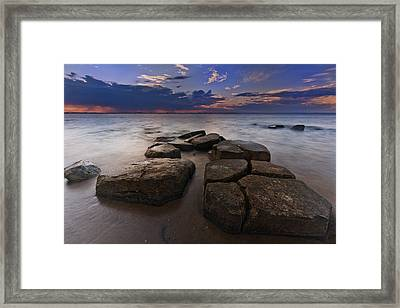 Great South Bay Sunset Framed Print by Rick Berk