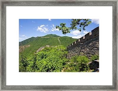 Great Wall At Mutianyu Framed Print by Bridget Coila