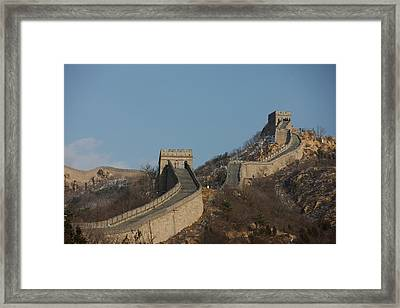 Great Wall Of China In Badaling China Framed Print by Everett