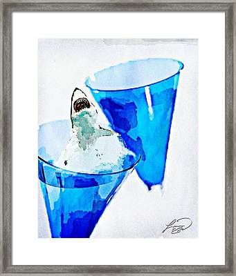Great White Chardonnay Framed Print by ABA Studio Designs