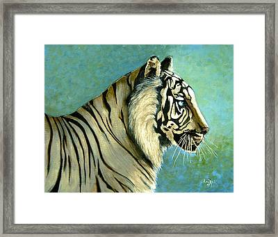 great White Hunter Framed Print by Andrea Camp