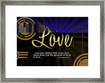 Greatest Love Framed Print by Greg Long