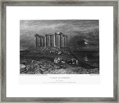 Greece: Cape Sounion, 1832 Framed Print