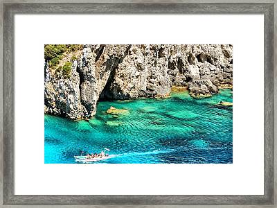 Greece Corfu Island Framed Print by Meeli Sonn