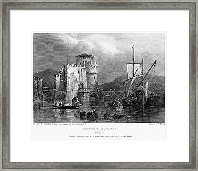 Greece: Negropont, 1833 Framed Print