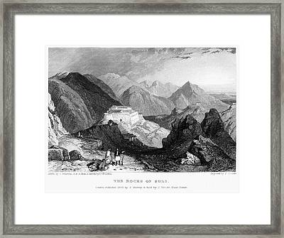 Greece: Souli, 1833 Framed Print by Granger