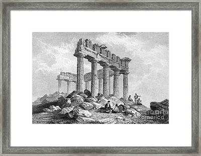 Greece: The Parthenon 1833 Framed Print by Granger