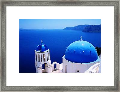 Greek Blue Framed Print